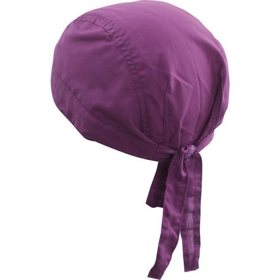 Paars hoofddoekje voor volwassenen uni 1