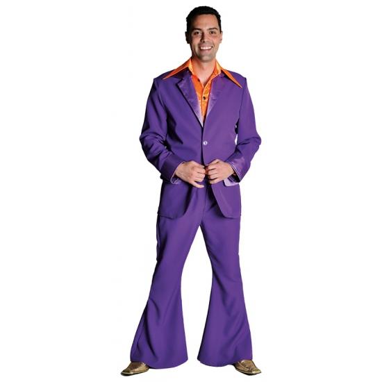 Paarse colbert en broek voor heren