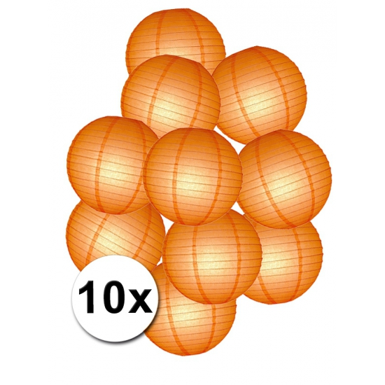 Pakket met oranje lampionnen