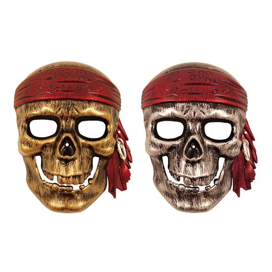 Piraat doodskop masker voor kinderen