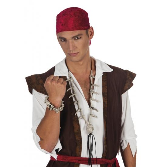 Piraten armbandje met schedel en botten