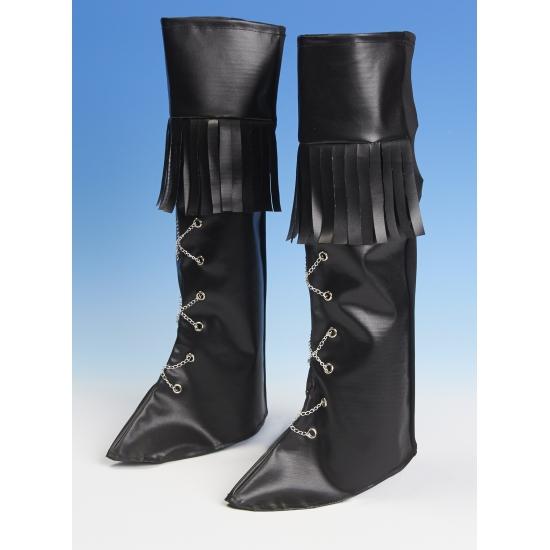 Piraten schoenhoezen zwart