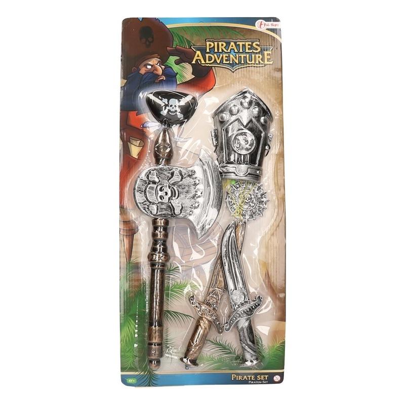 Piraten speelgoed set 6-delig voor kids