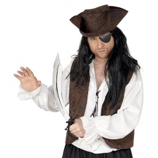 Piraten verkleed accessoires ooglap en zwaard