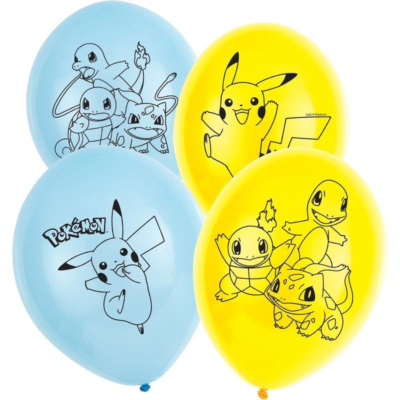 Pokemon ballonnen 6 stuks