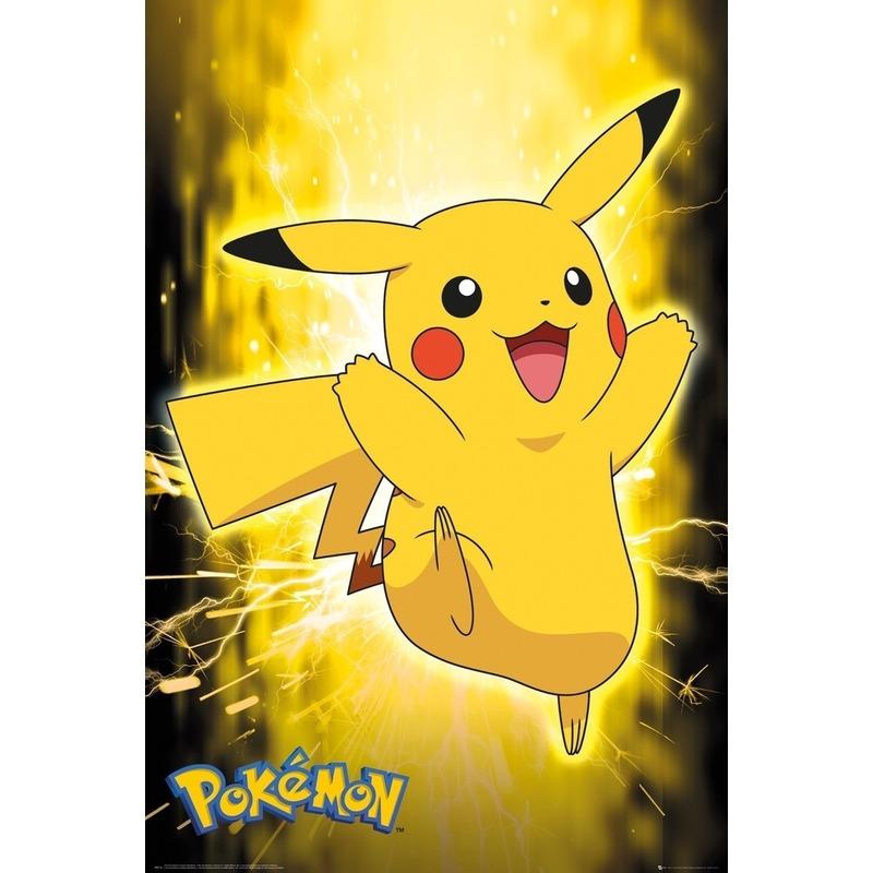 Poster Pokemon Pikachu 61 x 91 cm