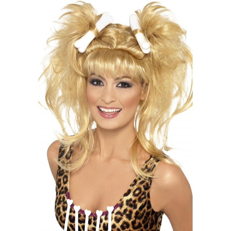 Prehistorische Pruik Blond Voor Dames