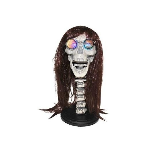 Pruikenhouder skelet met licht