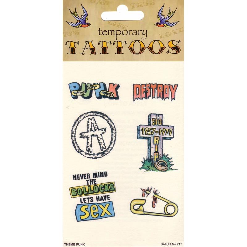 Punk Tattoo Set 6 Stuks