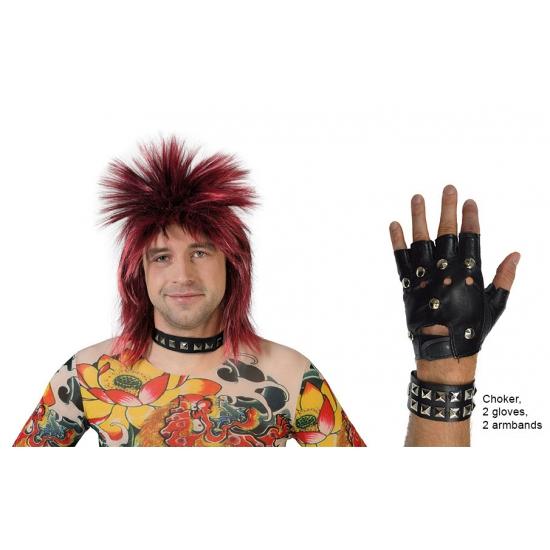 Punk verkleed set 5-delig