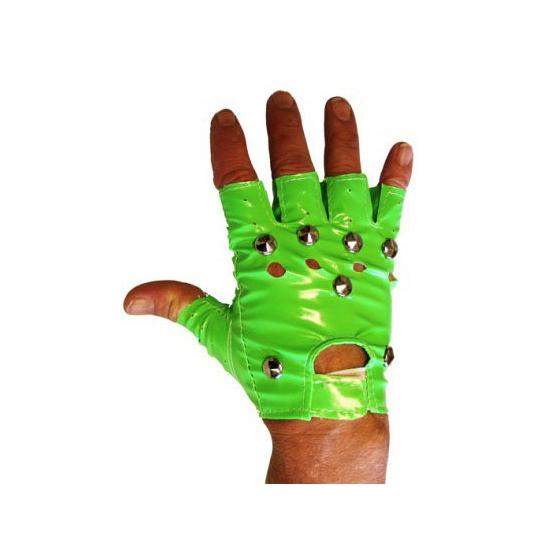 Punker handschoenen groen