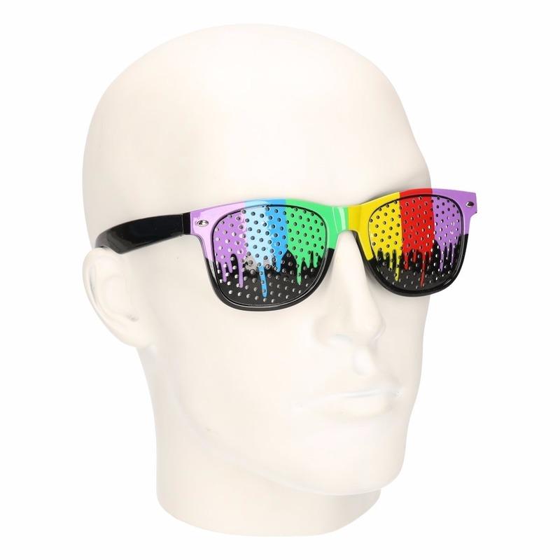 Regenboog gekleurde zonnebrillen