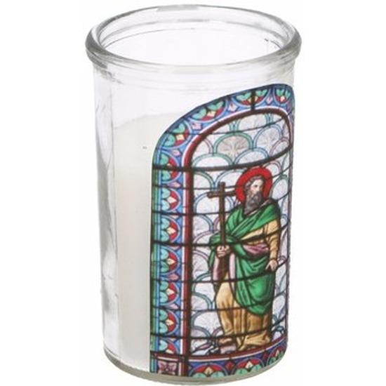 Religieuze kerstkaars Jozef type 4
