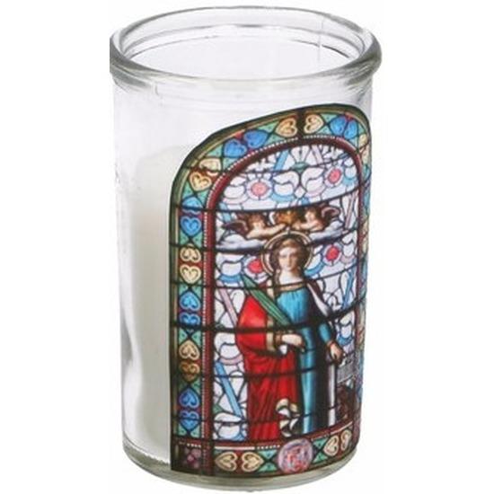 Religieuze kerstkaars Maria type 3