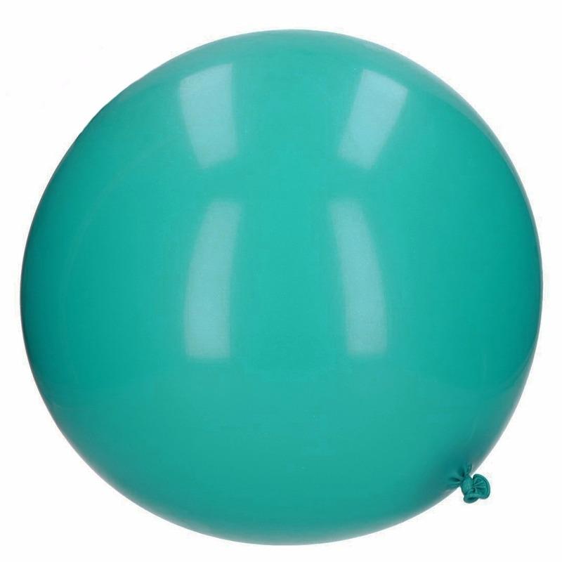 Reuze ballon teal 65 cm