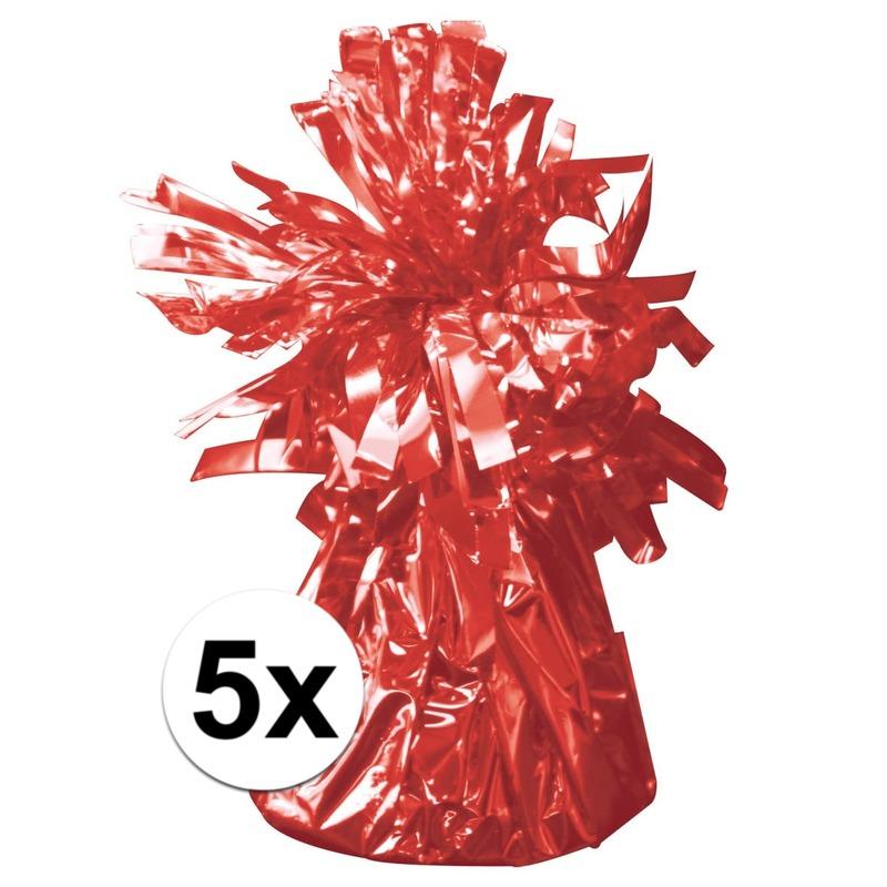 Rode ballonnen gewichten 5 stuks