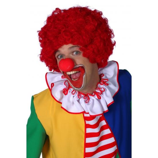 Rode pruik clowns