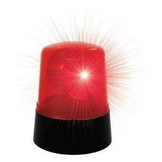 Rode roterende ledlamp 9 x 11cm