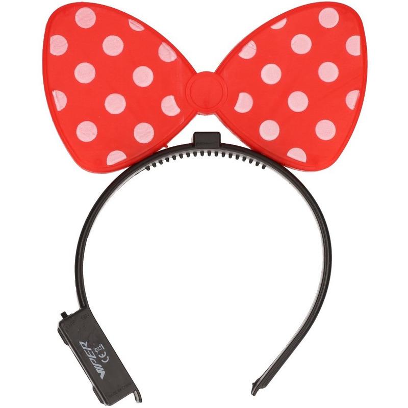 Rode strik haarband met verlichting