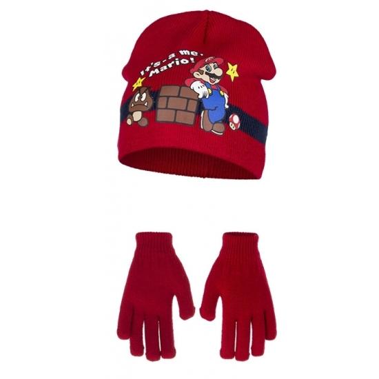 Rode Super Mario winteraccessoires