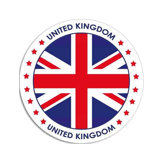 Ronde United Kingdom sticker 15 cm landen decoratie