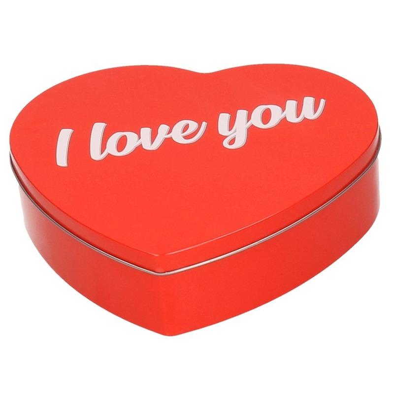 Rood I Love You hart snoeptrommel 18 cm