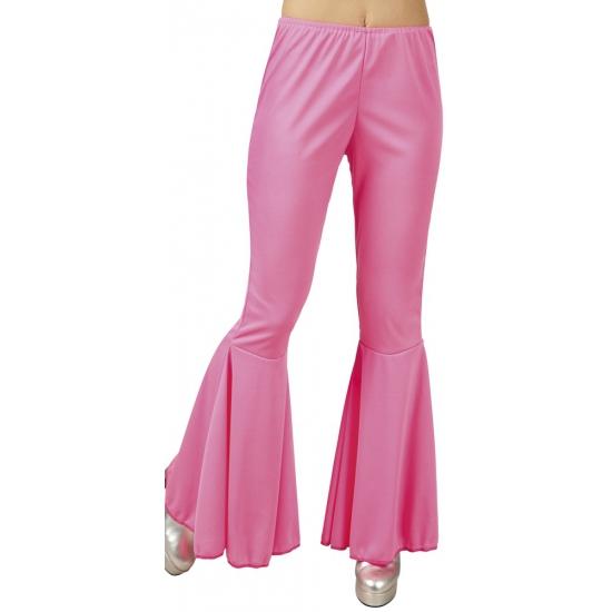 Roze disco broeken voor dames