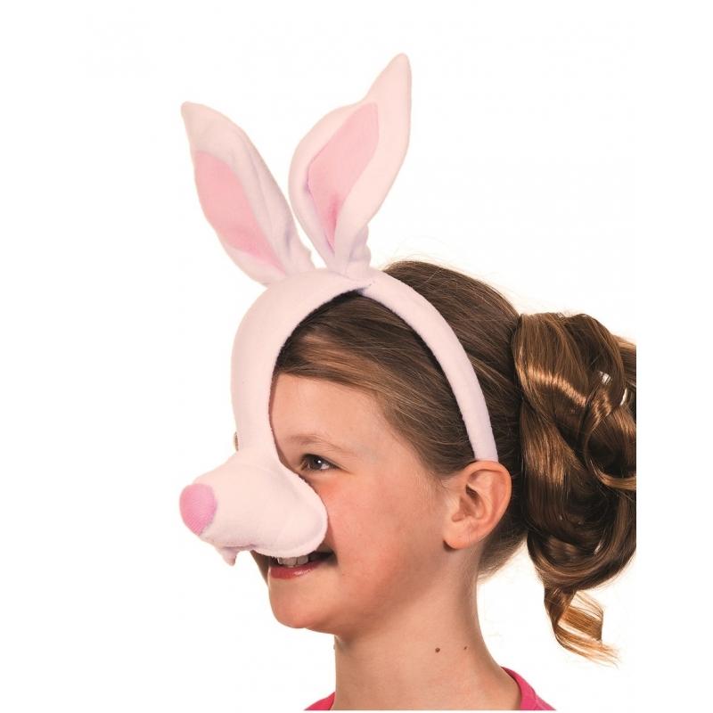 Roze konijnen masker met geluid