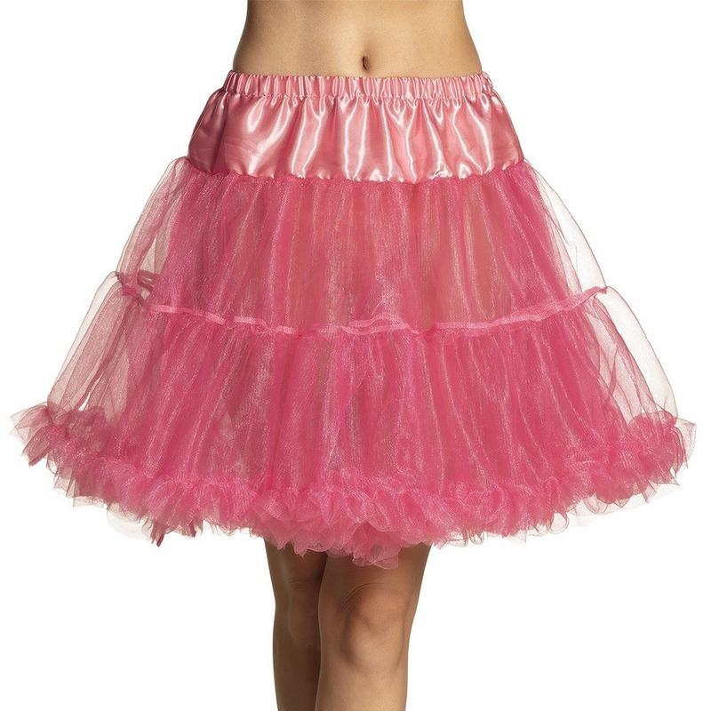 Roze lange petticoat voor dames
