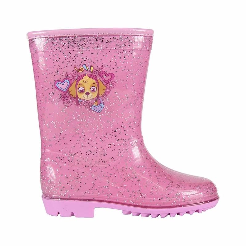 Roze Paw Patrol regenlaarsjes voor meisjes