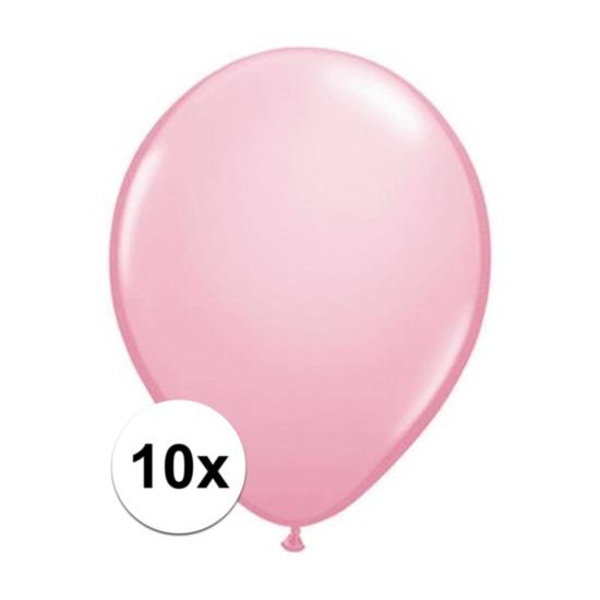 Roze Qualatex ballonnen 10 stuks