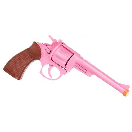 Roze speelgoed pistool 8 shots