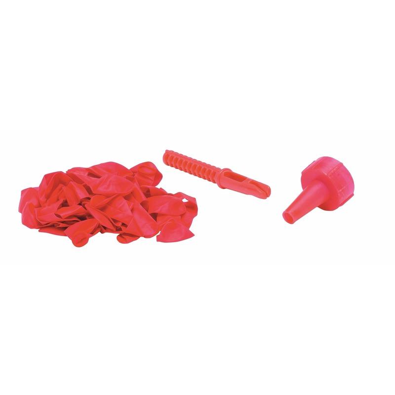 Roze waterbommen met kraan opzetstuk 60 stuks