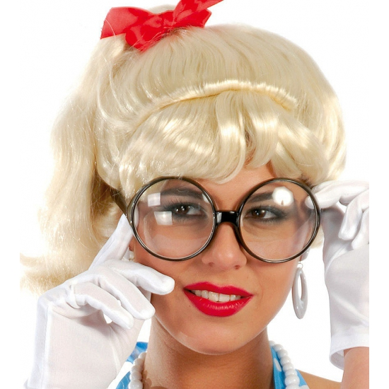 Secretaresse bril met grote ronde glazen