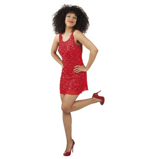 Sexy vuurrood jurkje met pailletten