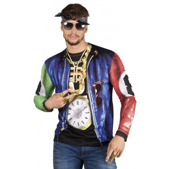 Shirt met rapper opdruk