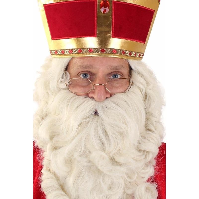 Sinterklaas bril goudkleurig