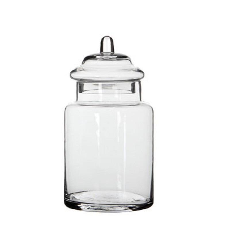 Snoeppot - bewaarpot van glas met deksel 22 x 13 cm