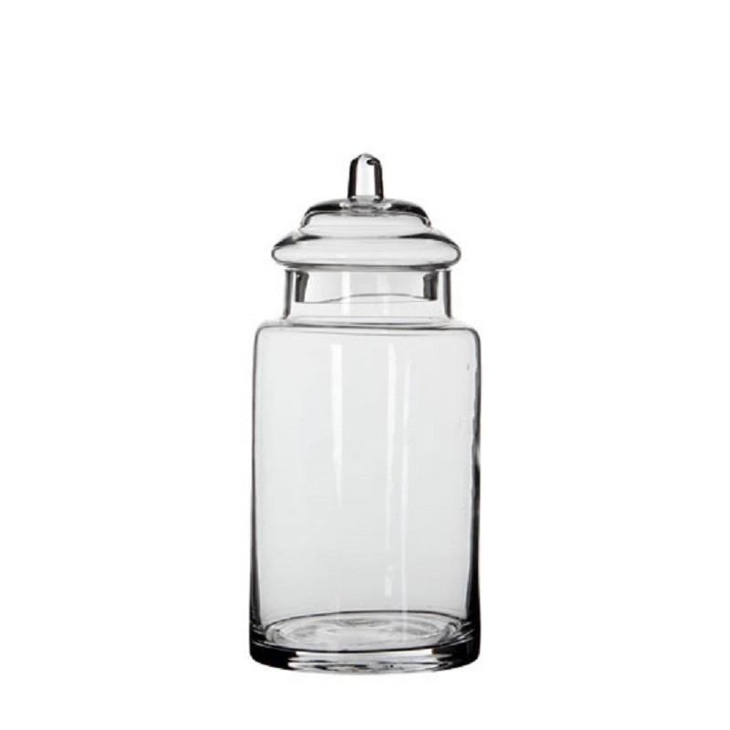 Snoeppot - bewaarpot van glas met deksel 28 x 13 cm