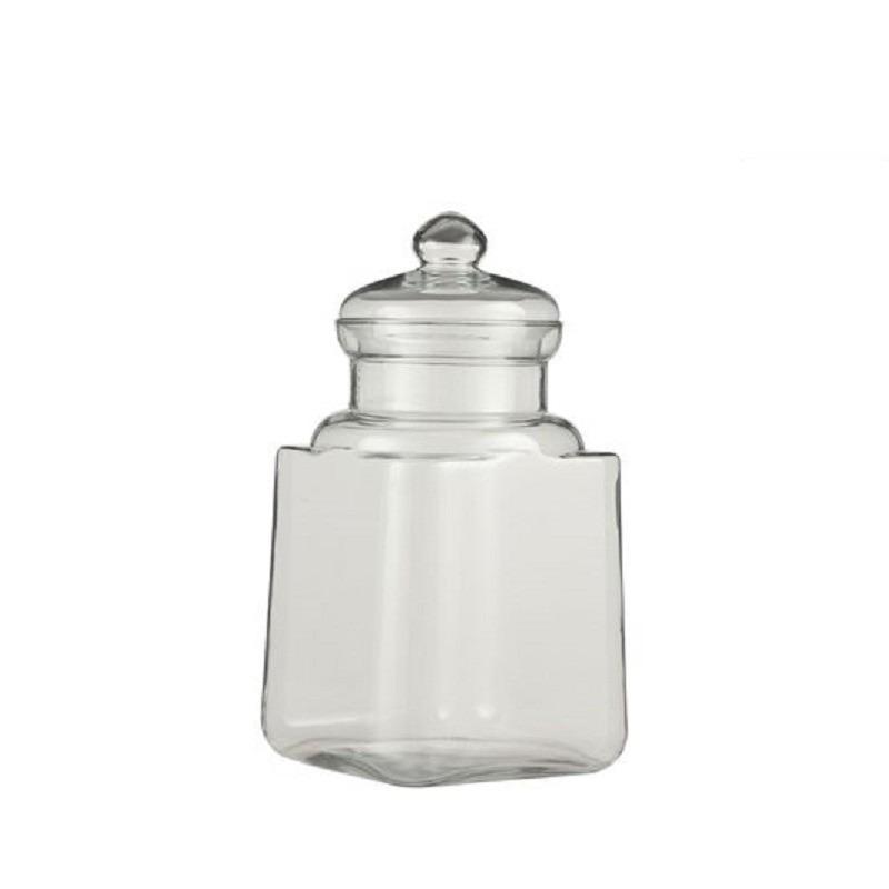 Snoeppot - bewaarpot van glas met deksel 29 x 19 cm