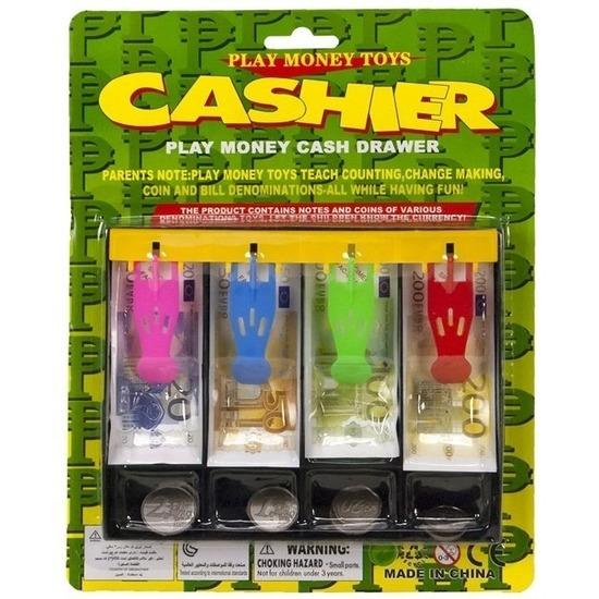 Speelgeld set in kassalade voor kinderen