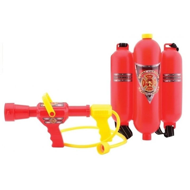 Speelgoed brandweerman brandblusser watertank