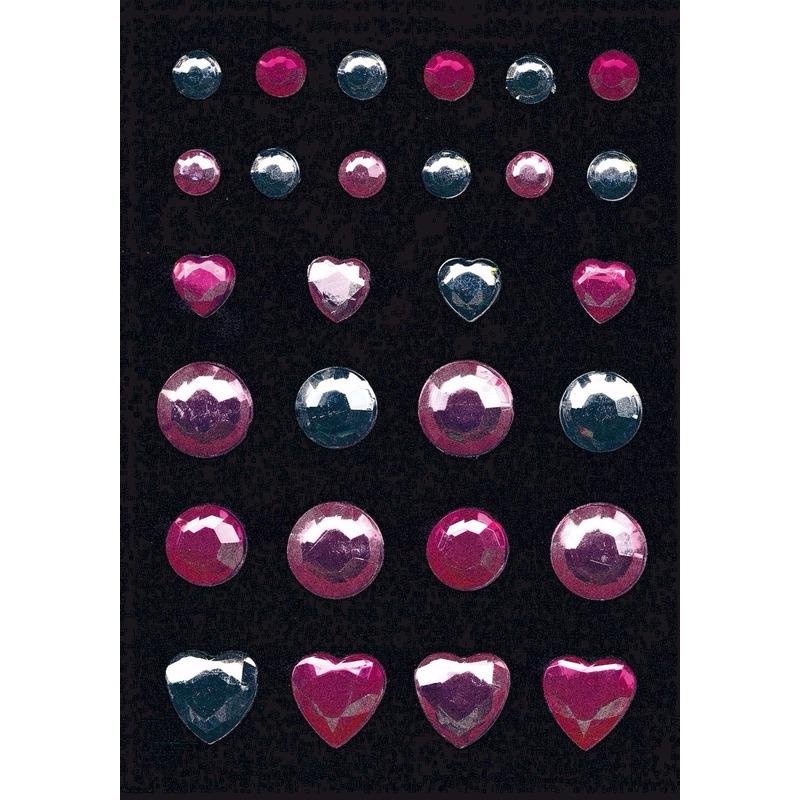 Stickers met glitters 2 kleuren steentjes