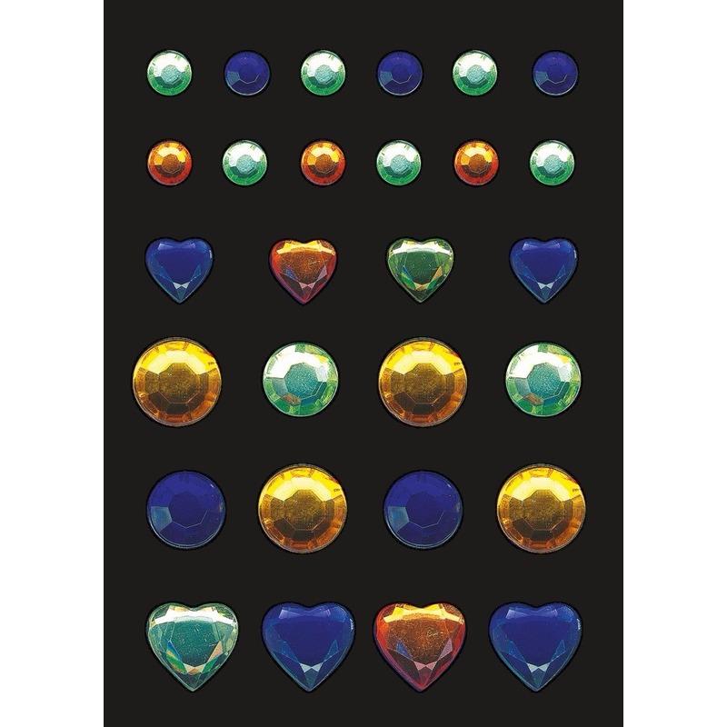 Stickers met glitters 3 kleuren steentjes