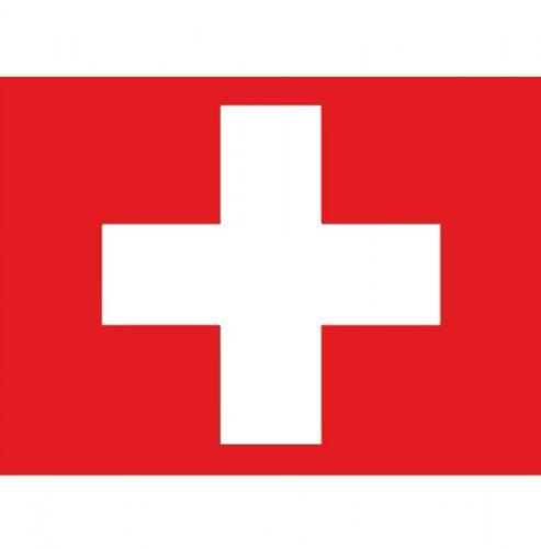 Stickertjes van vlag van Zwitserland