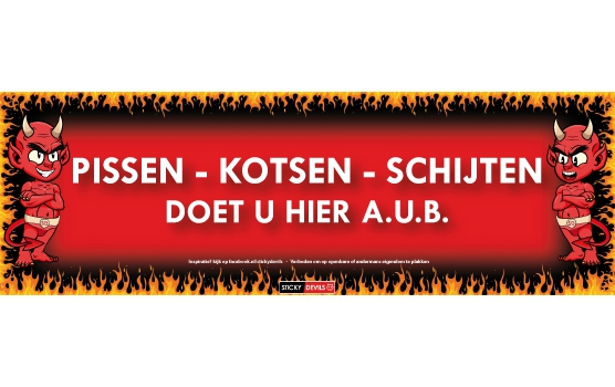 Sticky Devil Pissen-Kotsen-Schijten doet u hier a.u.b.