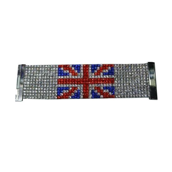 Strass armband met Union Jack vlag