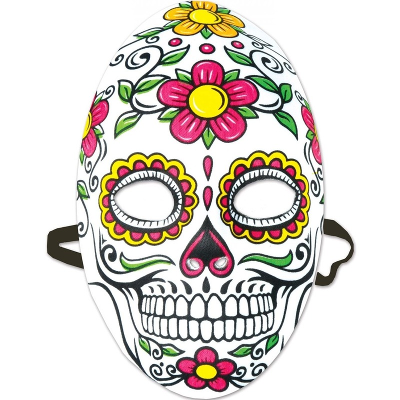 Sugarskull verkleedaccessoire masker Dia de los Muertos/Day of the Dead voor dames