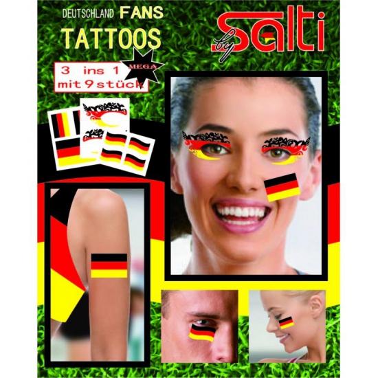 Tatoeages Duitsland 9 stuks