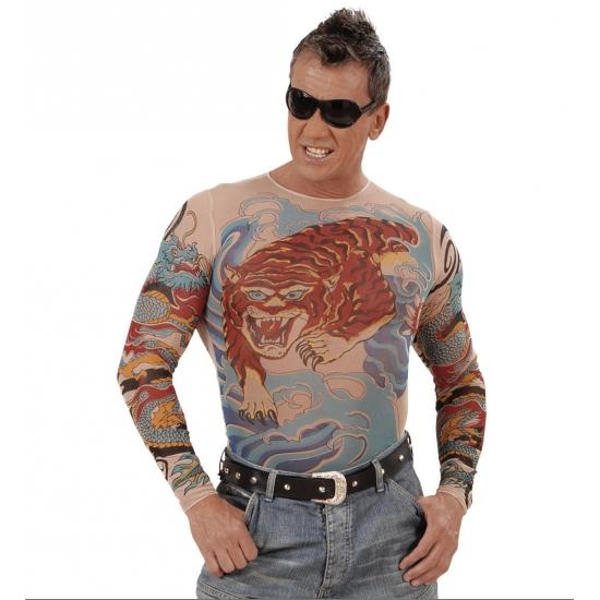 Tattooshirt Tiger voor heren